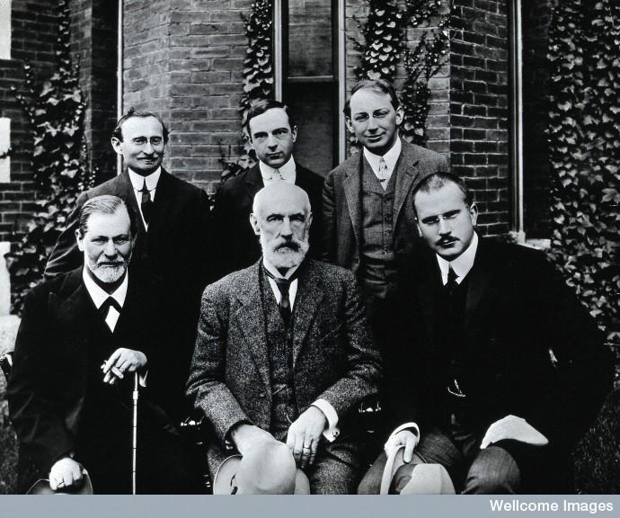 V0027599 Sigmund Freud, Stanley Hall, Carl Gustav Jung, Abraham Arden
